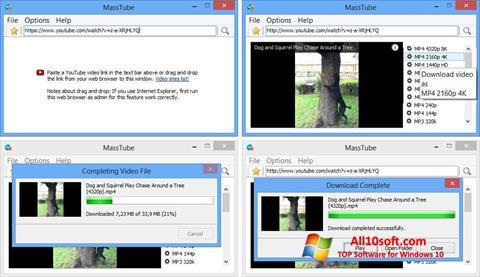 لقطة شاشة MassTube لنظام التشغيل Windows 10