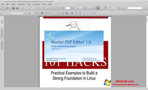 لقطة شاشة Master PDF Editor لنظام التشغيل Windows 10