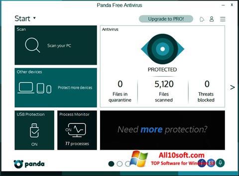 لقطة شاشة Panda لنظام التشغيل Windows 10