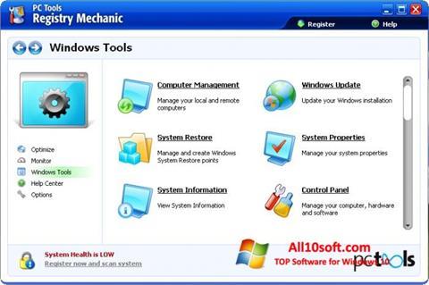 لقطة شاشة Registry Mechanic لنظام التشغيل Windows 10