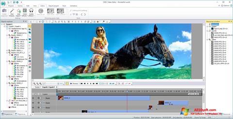 لقطة شاشة VSDC Free Video Editor لنظام التشغيل Windows 10