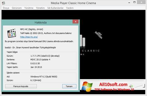 لقطة شاشة K-Lite Codec Pack لنظام التشغيل Windows 10