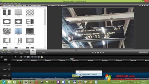 لقطة شاشة Camtasia Studio لنظام التشغيل Windows 10