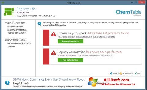 لقطة شاشة Registry Life لنظام التشغيل Windows 10