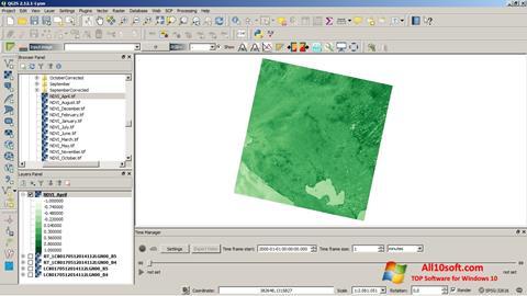 لقطة شاشة QGIS لنظام التشغيل Windows 10