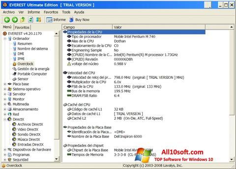 لقطة شاشة EVEREST Ultimate Edition لنظام التشغيل Windows 10