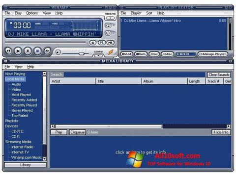 لقطة شاشة Winamp Lite لنظام التشغيل Windows 10
