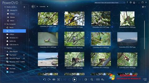 لقطة شاشة PowerDVD لنظام التشغيل Windows 10