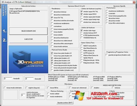 لقطة شاشة 3D-Analyze لنظام التشغيل Windows 10