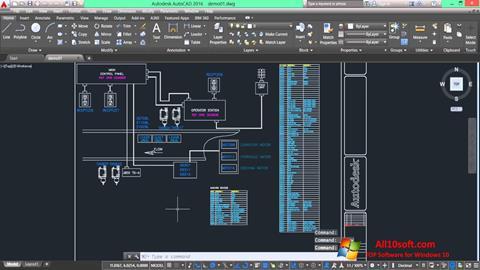 لقطة شاشة AutoCAD Electrical لنظام التشغيل Windows 10