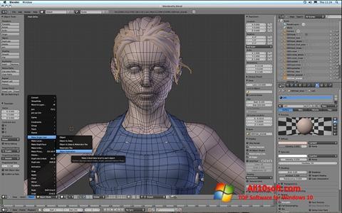 لقطة شاشة Blender لنظام التشغيل Windows 10
