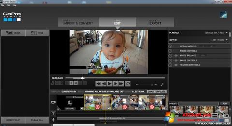لقطة شاشة GoPro Studio لنظام التشغيل Windows 10