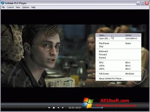 لقطة شاشة FLV Player لنظام التشغيل Windows 10
