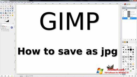 لقطة شاشة GIMP لنظام التشغيل Windows 10