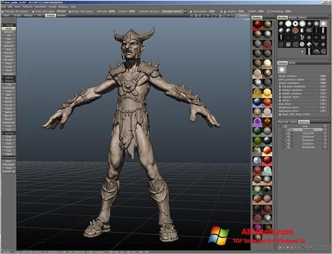لقطة شاشة 3D-Coat لنظام التشغيل Windows 10