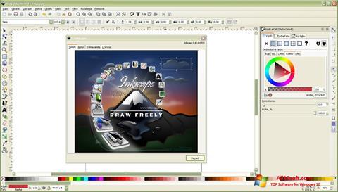 لقطة شاشة Inkscape لنظام التشغيل Windows 10