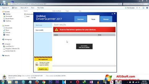 لقطة شاشة DriverScanner لنظام التشغيل Windows 10
