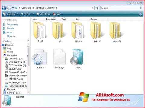 لقطة شاشة Windows 7 USB DVD Download Tool لنظام التشغيل Windows 10
