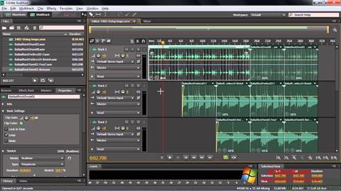 لقطة شاشة Adobe Audition CC لنظام التشغيل Windows 10