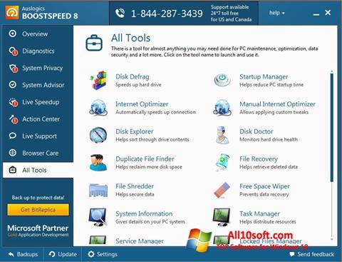 لقطة شاشة Auslogics BoostSpeed لنظام التشغيل Windows 10