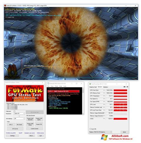 لقطة شاشة FurMark لنظام التشغيل Windows 10