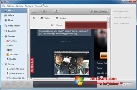 لقطة شاشة Miro لنظام التشغيل Windows 10