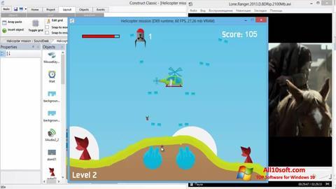 لقطة شاشة Construct Classic لنظام التشغيل Windows 10