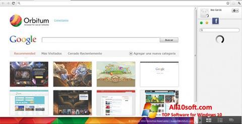 لقطة شاشة Orbitum لنظام التشغيل Windows 10
