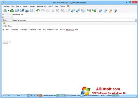 لقطة شاشة The Bat! لنظام التشغيل Windows 10