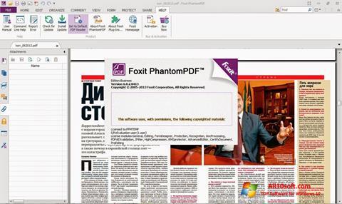 لقطة شاشة Foxit Phantom لنظام التشغيل Windows 10