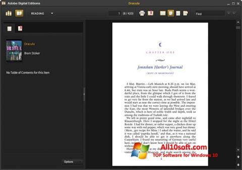 لقطة شاشة Adobe Digital Editions لنظام التشغيل Windows 10