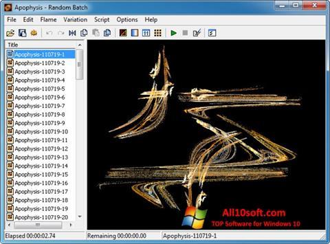 لقطة شاشة Apophysis لنظام التشغيل Windows 10