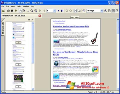 لقطة شاشة WinDjView لنظام التشغيل Windows 10