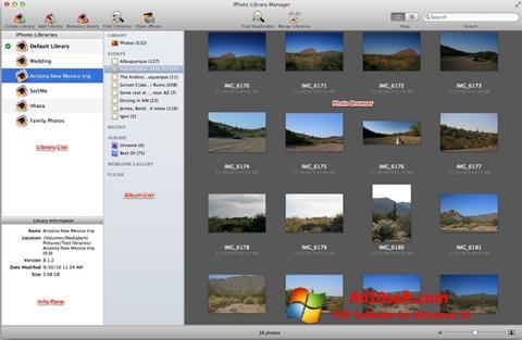 لقطة شاشة iPhoto لنظام التشغيل Windows 10