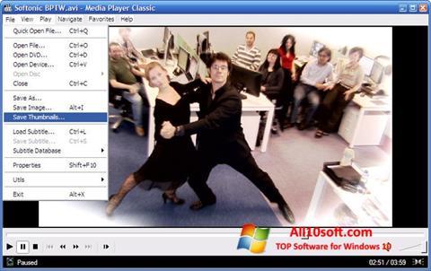 لقطة شاشة Media Player Classic لنظام التشغيل Windows 10