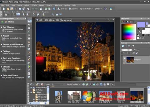 لقطة شاشة PaintShop Pro لنظام التشغيل Windows 10