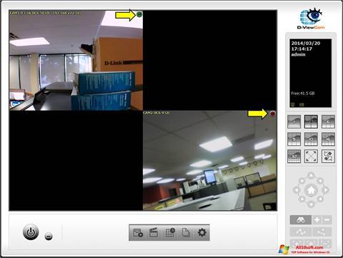 لقطة شاشة D-ViewCam لنظام التشغيل Windows 10