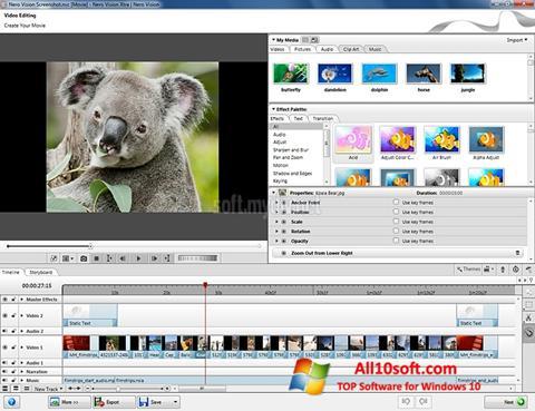 لقطة شاشة Nero Vision لنظام التشغيل Windows 10