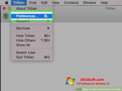 لقطة شاشة Trillian لنظام التشغيل Windows 10