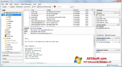 لقطة شاشة eM Client لنظام التشغيل Windows 10