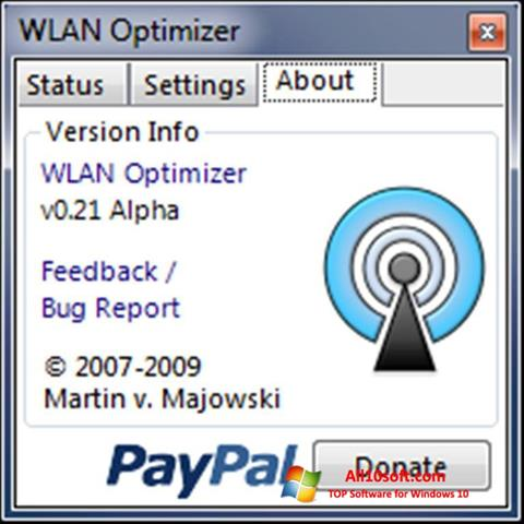 لقطة شاشة WLAN Optimizer لنظام التشغيل Windows 10