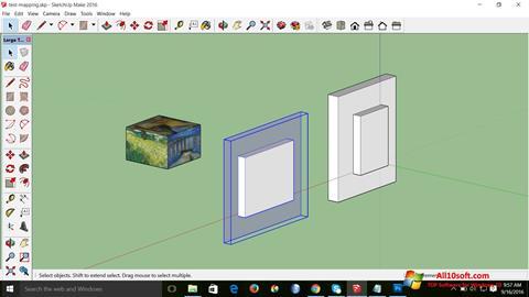 لقطة شاشة SketchUp Make لنظام التشغيل Windows 10