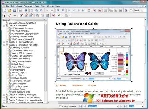 لقطة شاشة Foxit PDF Editor لنظام التشغيل Windows 10