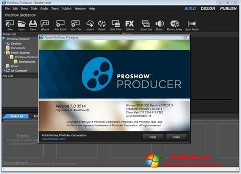 لقطة شاشة ProShow Producer لنظام التشغيل Windows 10