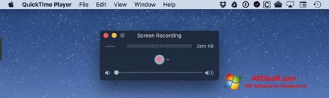 لقطة شاشة QuickTime لنظام التشغيل Windows 10