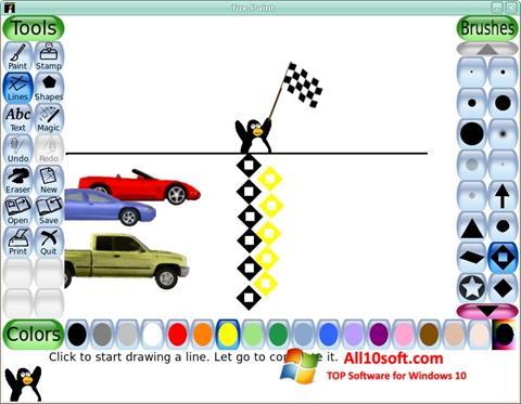 لقطة شاشة Tux Paint لنظام التشغيل Windows 10