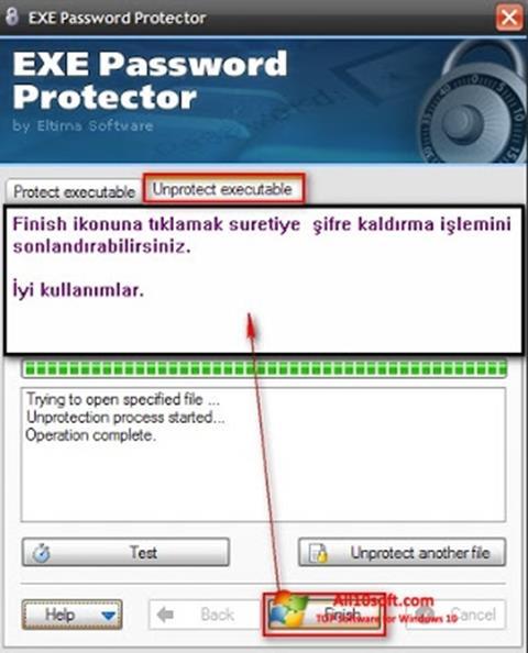لقطة شاشة EXE Password لنظام التشغيل Windows 10