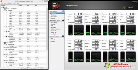 لقطة شاشة AMD Overdrive لنظام التشغيل Windows 10