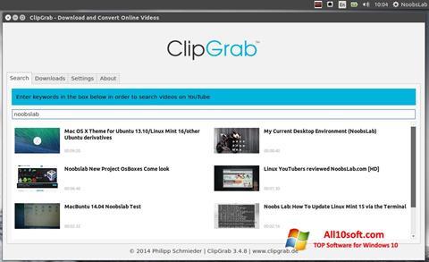 لقطة شاشة ClipGrab لنظام التشغيل Windows 10