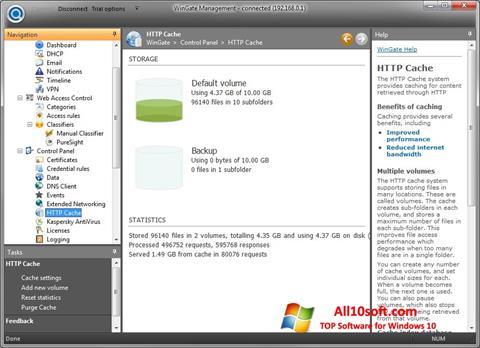 لقطة شاشة WinGate لنظام التشغيل Windows 10